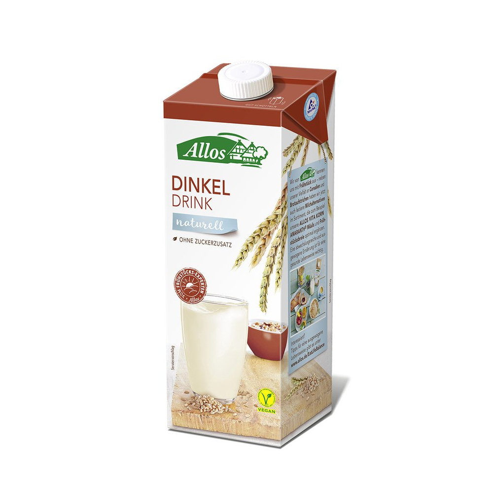 Allos Dinkeldrink Naturell, Bio, 1 l