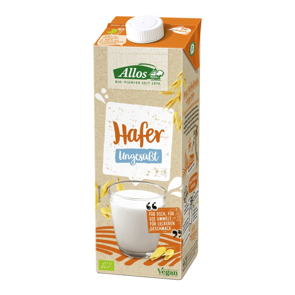 Allos Hafer Drink Naturell, Bio, 1 l