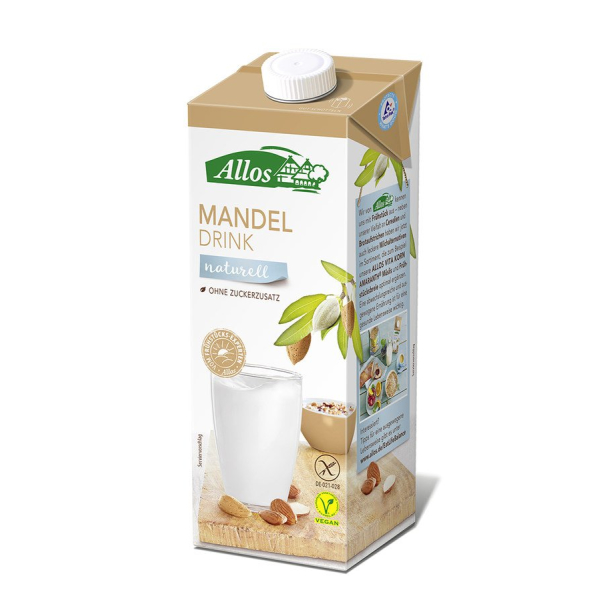 Allos Mandeldrink Naturell, Bio, 1 l