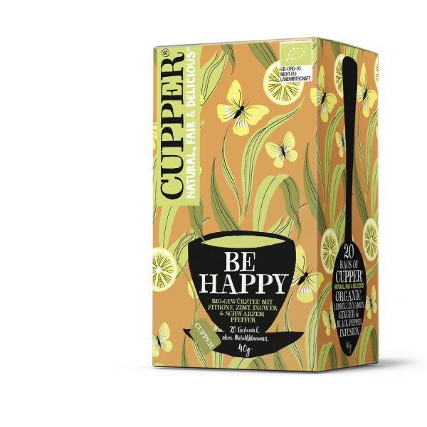 Cupper Be Happy Gewürztee, Bio, 20 x 2,0 g