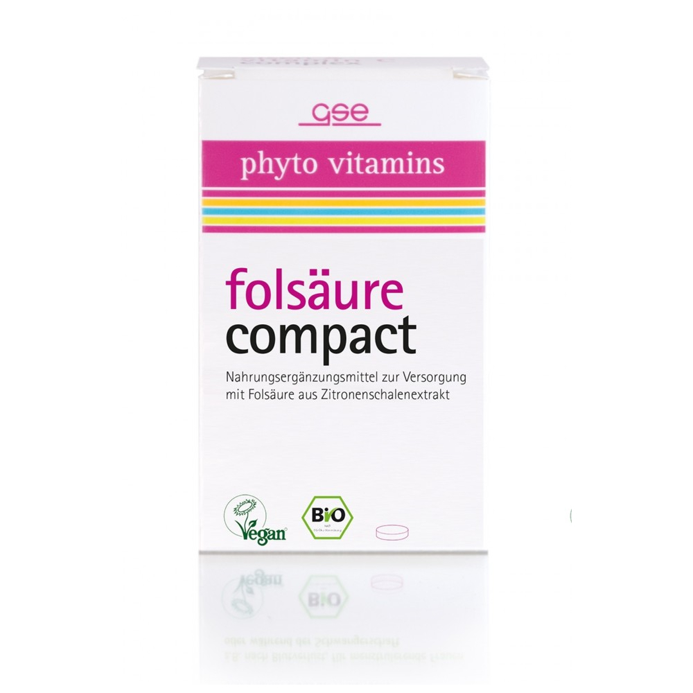 GSE phyto vitamins folsäure compact, Bio, 120 St., 34 g