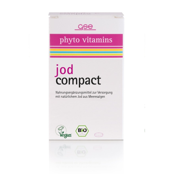 GSE phyto vitamins jod compact, Bio, 120 St., 34 g