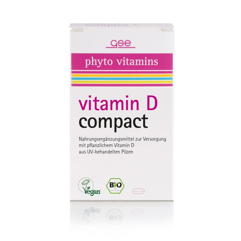 GSE phyto vitamins vitamin D compact, Bio, 120 St., 34 g