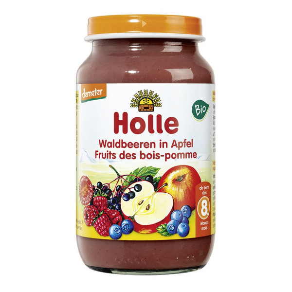 Holle baby food Waldbeeren in Apfel demeter, Bio, 220 g
