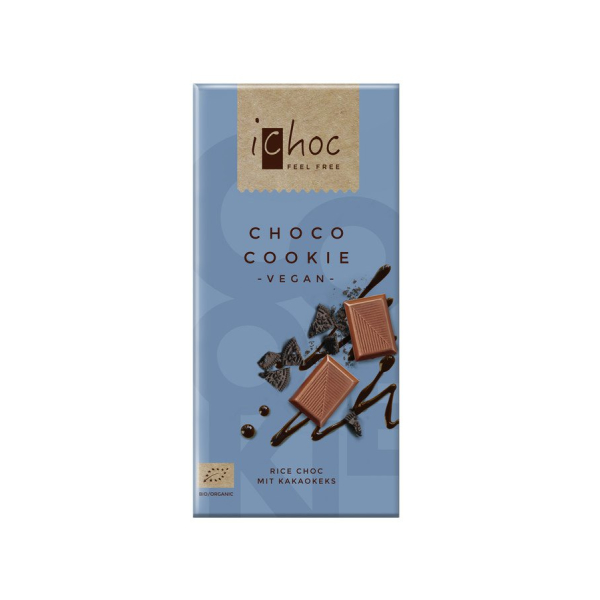 iChoc Choco Cookie Rice Choc, Bio, 80 g