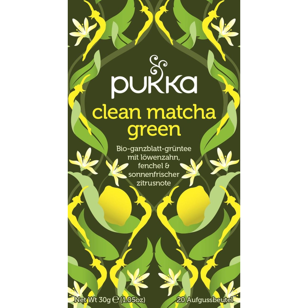 Pukka Clean Matcha Green Fairtrade, Bio, 20 x 1,5 g