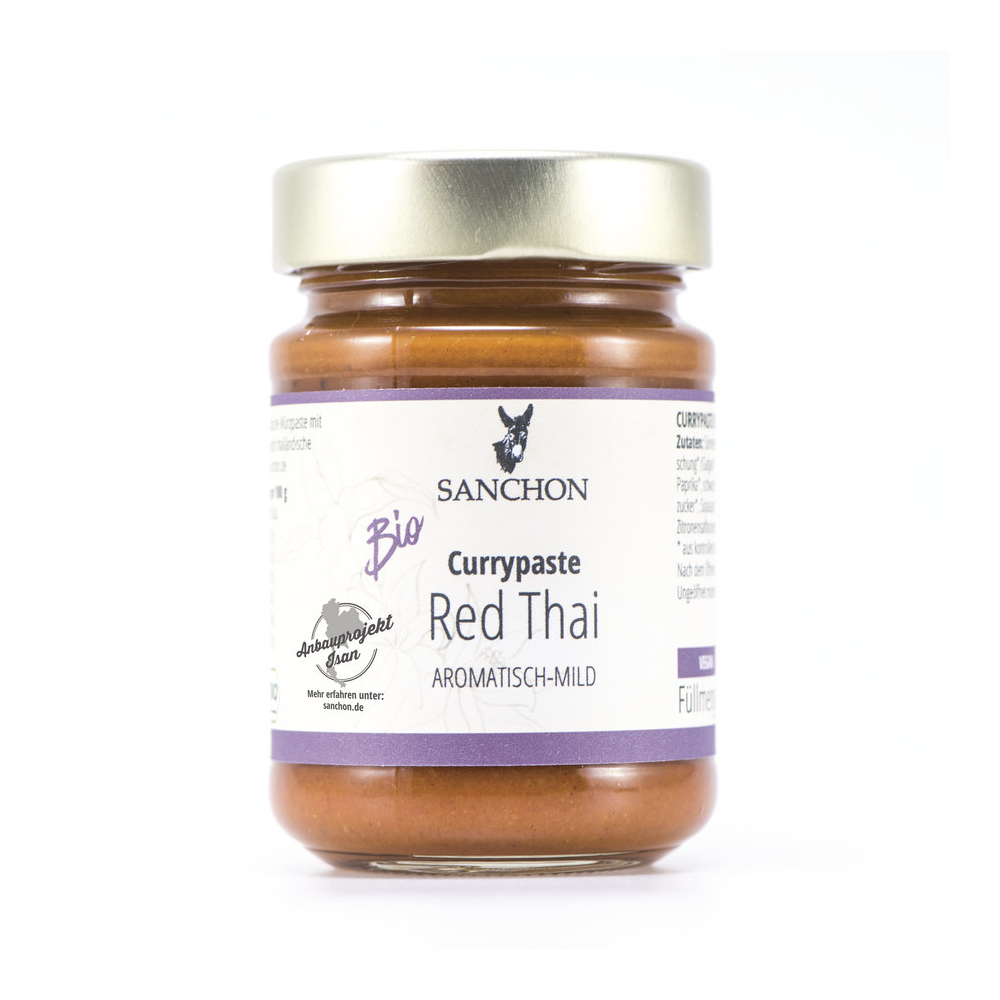 Sanchon Currypaste Red Thai, Bio, 190 g