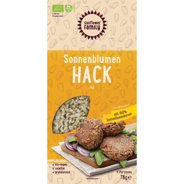 Sunflower Family Sonnenblumen Hack, Bio, 76 g