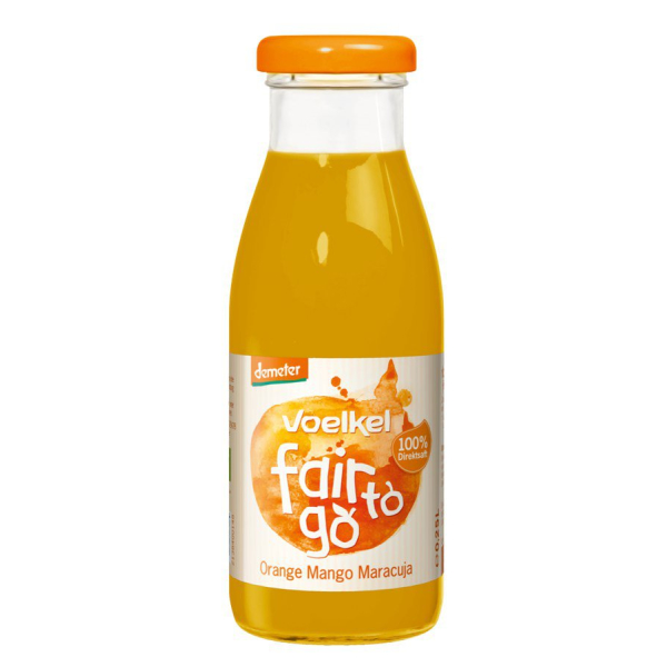 Voelkel fair to go Orange Mango Maracuja demeter, Bio,...