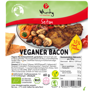Wheaty Veganer Bacon, Bio, 60 g
