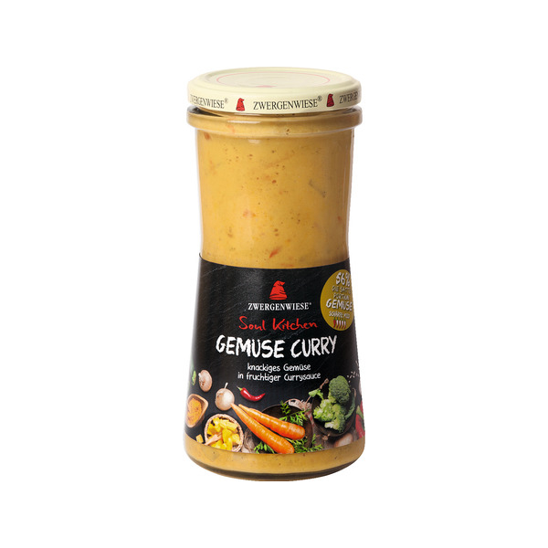 Zwergenwiese Soul Kitchen Gemüse Curry, Bio, 420 ml