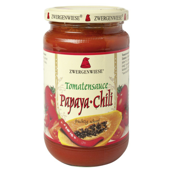 Zwergenwiese Tomatensauce Papaya-Chili, Bio, 340 ml