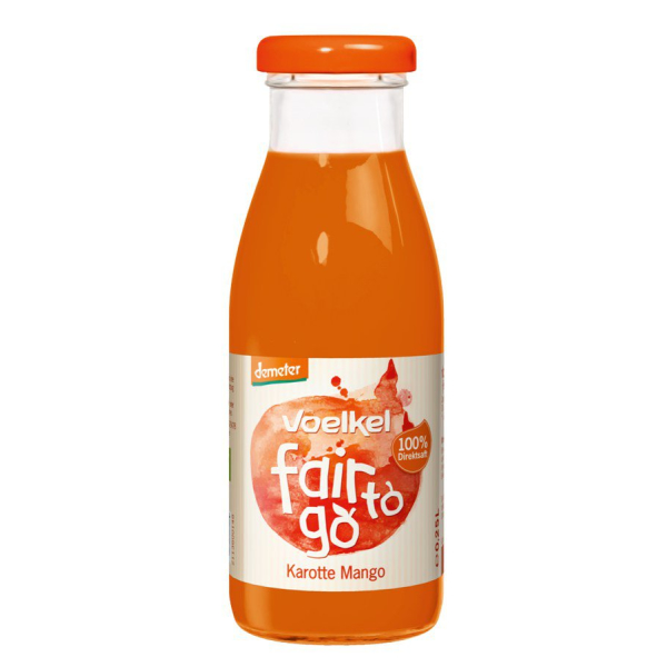 Voelkel fair to go Karotte Mango demeter, Bio, 250 ml