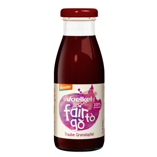 Voelkel fair to go Traube Granatapfel demeter, Bio, 250 ml