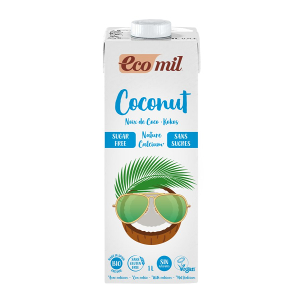 ecomil Kokosdrink Nature Calcium, Bio, 1 l